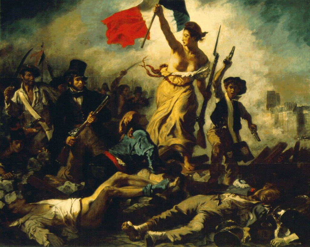 La Libertad guiando al pueblo - E. Delacroix